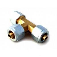 Тройник газовой магистрали (пластик) FARO 8*8*8